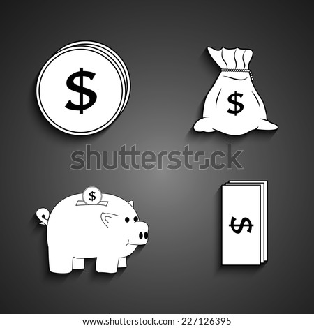 Rupee Note Vector Coins Rupee Notes And