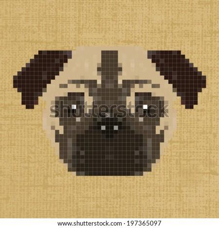 Relativ Illustration Pixel Art Dog Background Stock Vector 197365097  BW15
