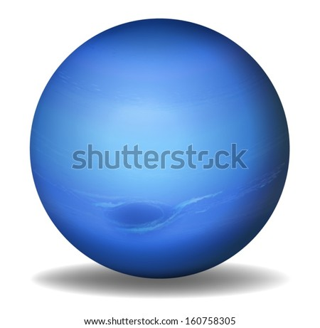 Illustration of planet Neptune on a white background - stock vector