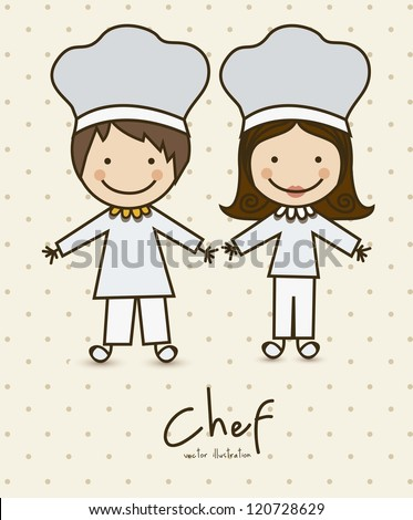 Illustration of professions, icons of chef,  vector illustration - stock vector