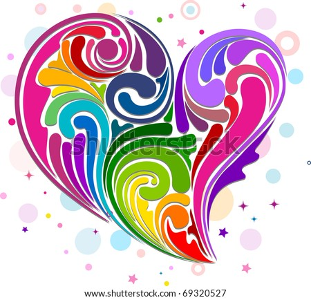 Rainbow Heart Clipart Stock Images, Royalty-Free Images & Vectors ...
