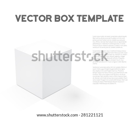 Illustration of Realistic 3D Vector Cube Device Box Icon - stock vector
