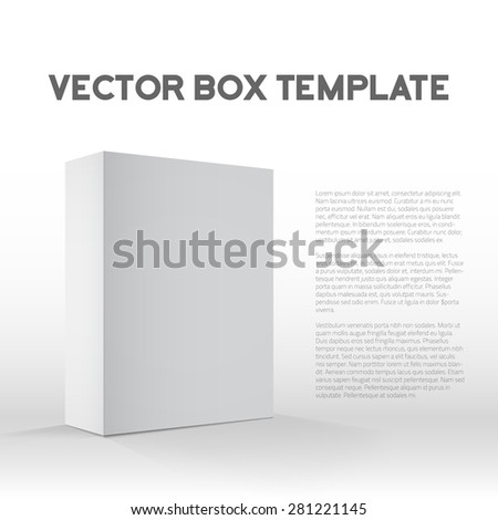 Illustration of Realistic Vector Blank White Packaging Box Template for cellphone, tablet pc, gadgets. - stock vector