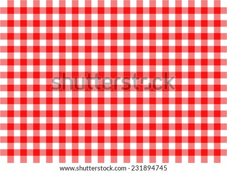 illustration of red traditional gingham concept background - stock vector
