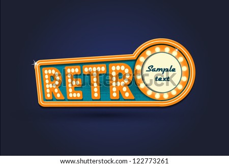 Illustration of retro - stock vector