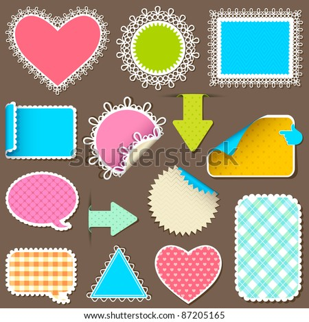 illustration of retro style sticker for label on abstract background - stock vector