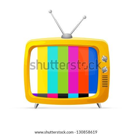 Illustration of retro tv - stock vector