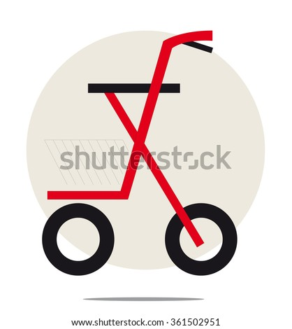 Illustration of rollator isolated on white background - stock vector