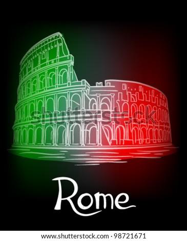 Illustration of Rome - stock vector