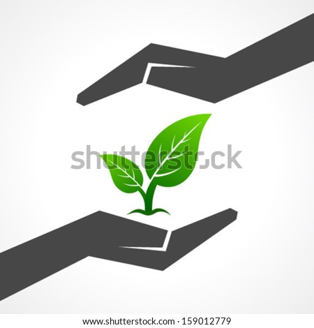 Illustration of save nature concept  - stock vector