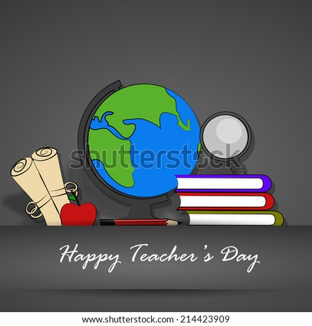 Illustration of School Supplies for Teacher's Day