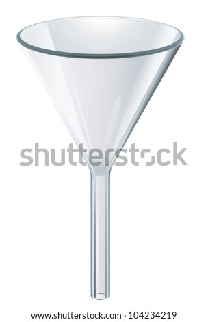 Illustration of scientific glassware  -funnel - stock vector