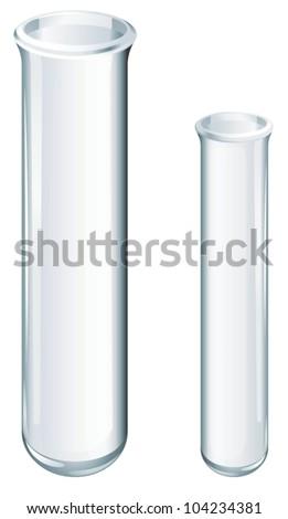 Illustration of scientific glassware - test tubes - stock vector