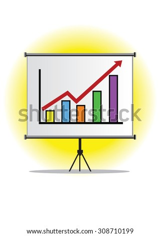 Illustration of screen/monitor which using on presentation