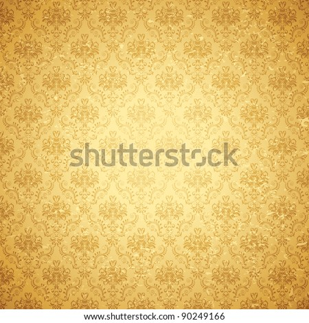 illustration of seamless floral background in vintage style - stock vector