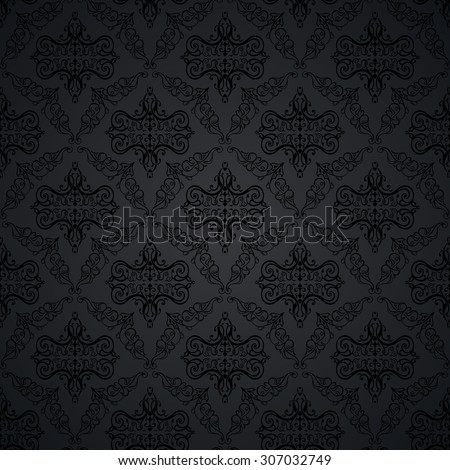 Illustration of seamless floral background in vintage style. Wallpaper with abstract patterns in the form of tiles. Ornament for design and print texture