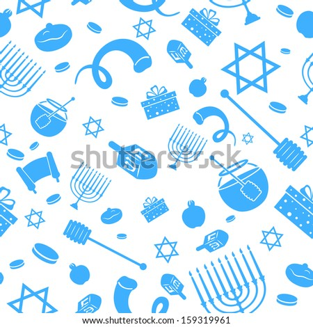 illustration of Seamless Israeli Holiday Pattern - stock vector