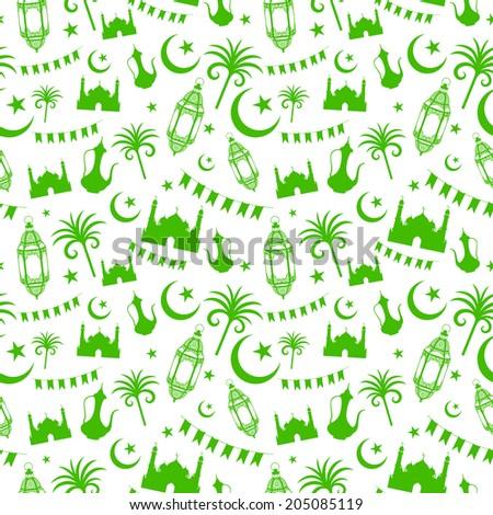 illustration of seamless pattern for Eid - stock vector