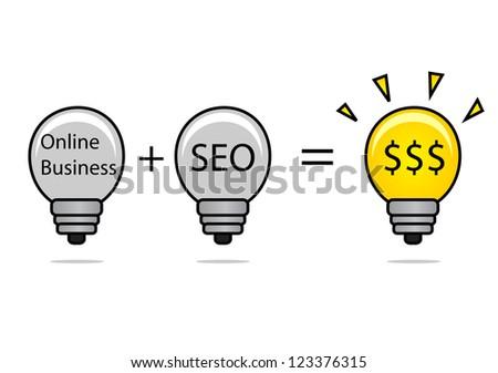 illustration of SEO idea - stock vector
