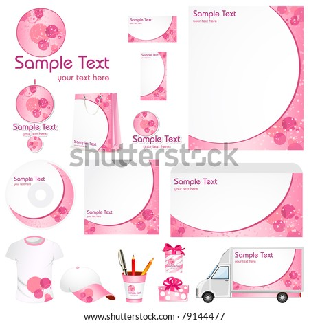 illustration of set of business template for advertisement - stock vector