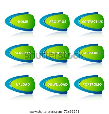 illustration of set of icon for web on white background - stock vector