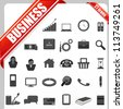 illustration of set of simple business icon - stock vector