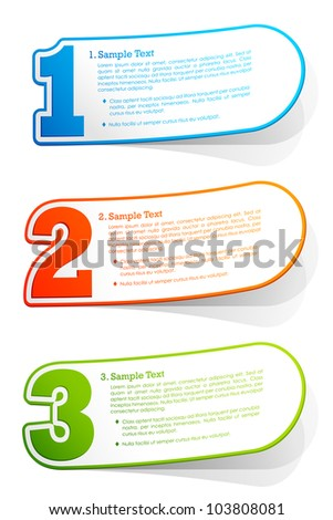 illustration of shiny background for different option or choice - stock vector
