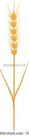 Illustration of single ear of wheat - stock vector