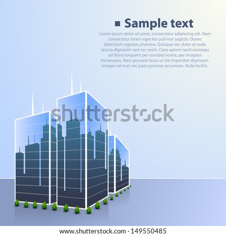 Illustration of skyscrapers in the city