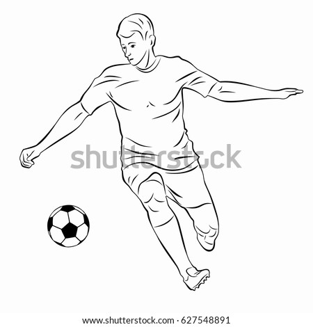 Football player black and white