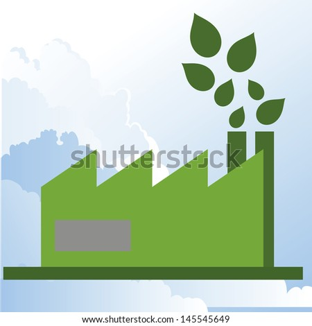 illustration of social responsibility sustainable industry. - stock vector