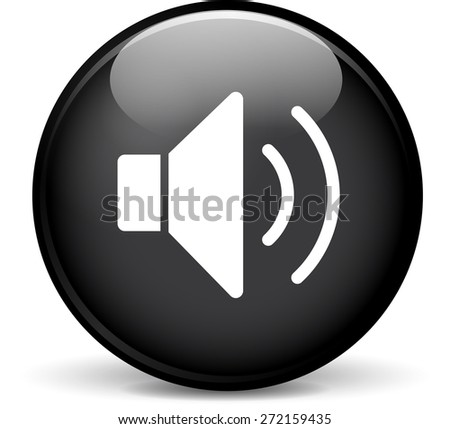 Illustration of sound modern design black sphere icon - stock vector