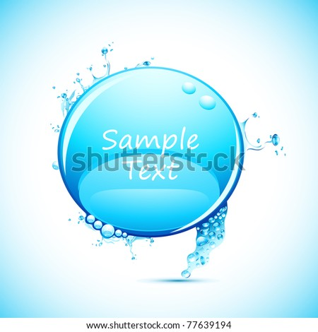 illustration of speech bubble in shape of splashing water - stock vector