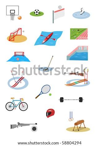Illustration of sport icon set - stock vector