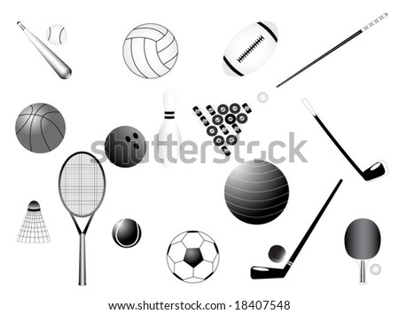 Illustration of sport requisites