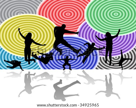 Illustration of sport silhouettes - stock vector
