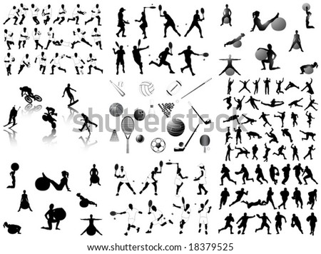 Illustration of sports - stock vector