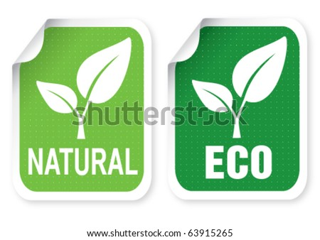 Illustration of sticker with a text - stock vector