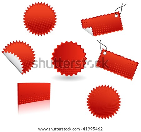 Illustration of stickers - stock vector