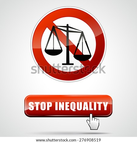 Inequality Symbols Red Gender Inequality Stoc...