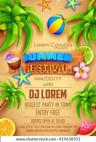 illustration of Summer Festival poster design