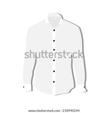 Illustration Tshirt Clothes Man Shirt Formal Stock Vector (Royalty ...