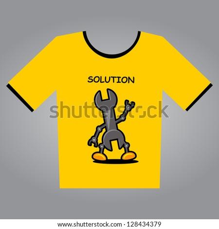 illustration of t-shirt design concept - stock vector