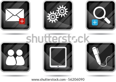 Illustration of Tablet Icon - Internet series - stock vector