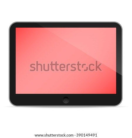 Illustration of tablet isolated on white background - stock vector