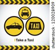 Illustration of taxi icons, transport industry, vector illustration - stock vector