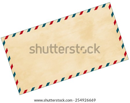 Illustration of the abstract aged airmail envelope - stock vector