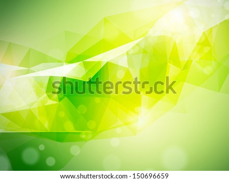 Illustration of the Abstract Background in Green