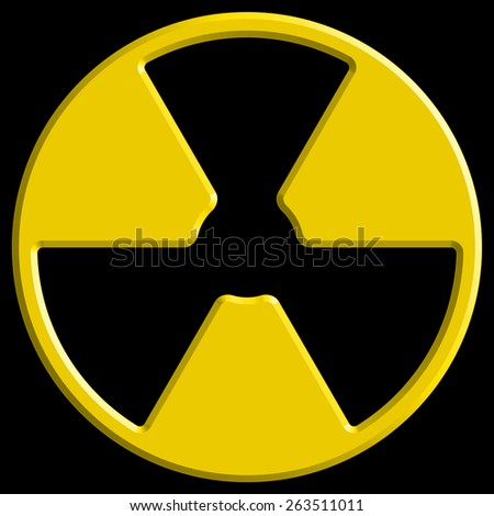 Illustration of the abstract radiation symbol - stock vector