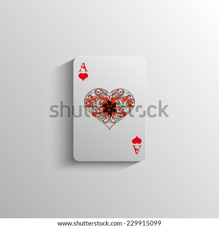illustration of the ACE of hearts pattern